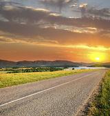 Most asphalt road — Stock Photo