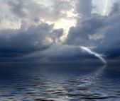 Storm on sea — Stock Photo