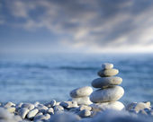 Stacked of stones — Stock Photo