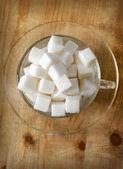 Sugar on wood — Stock Photo