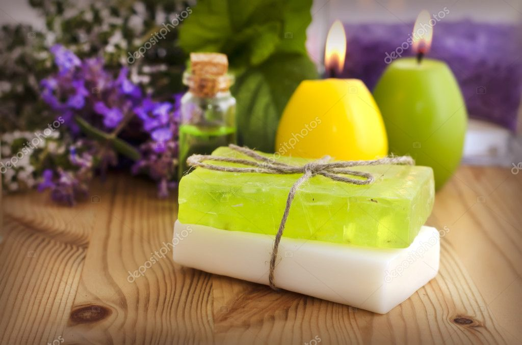 Natural Handmade Soap  — Stock Photo #7330617