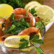 Salad from shrimps - Stock Photo