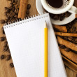 Note and pencil — Stock Photo
