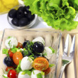 Salad with mozzarella — Stock Photo #7563484