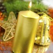 cristmas candle — Stock Photo