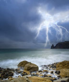 Storm on sea — Stock Photo