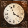 Vintage clock - Stockvektor