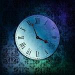 Grungy clock — Stock Vector