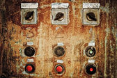 Closeup of old rusty control panel — Stock Photo