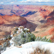 Grand Canyon panorama view in winter with snow — Stock Photo #6815742