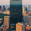 Boston aerial view - Stock Photo