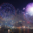 Manhattan fireworks show — Stock Photo