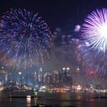 Шоу фейерверков Манхэттен — Стоковое фото