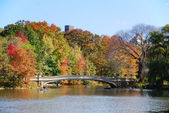 New York City Central Park Rainbow Bridge — Stock Photo