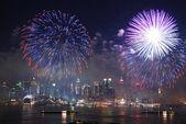 Manhattan fireworks show — Stock Photo