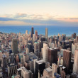 Chicago skyline at sunset — Stock Photo #7341038