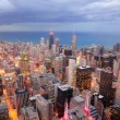 Chicago aerial view at dusk — Stock Photo #7341053