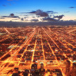Chicago at dusk — Stock Photo