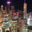 Chicago night aerial view — Stock Photo #7341061