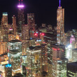 Stock Photo: Chicago night aerial view