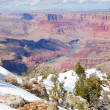 Grand Canyon panorama view in winter with snow — Stock Photo #7341527