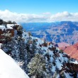 Grand Canyon panorama view in winter with snow — ストック写真