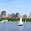 Charles river with Boston skyline — Stock Photo