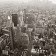 New York City Manhattan skyline aerial view black and white — Foto Stock