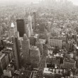 New York City Manhattan skyline aerial view black and white — Lizenzfreies Foto