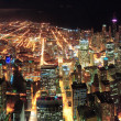 Stock Photo: Chicago Night view panorama