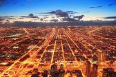 Chicago alacakaranlıkta — Stok fotoğraf