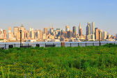 New york city manhattan zonsondergang — Stockfoto