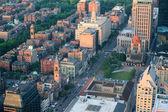 Luftaufnahme der städtischen stadt — Stockfoto