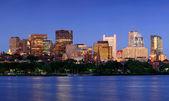 Boston city at night — Stock Photo