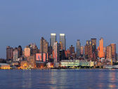 New York City Manhattan over Hudson River — Stock Photo