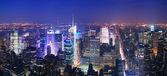 ニューヨーク市マンハッタン タイムズ スクエア スカイライン空撮 — ストック写真