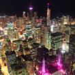 Chicago night aerial view — Stock Photo #7916519