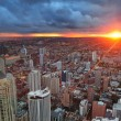 Chicago sunset — Stock Photo