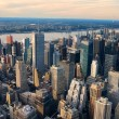 New York City Manhattan aerial view — Stock Photo