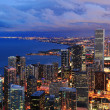 Chicago skyline panorama aerial view — Stock Photo #7916652