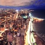 Chicago skyline panorama aerial view — Stock Photo #7916663