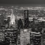 New York City Manhattan skyline aerial view at dusk — Stock Photo #7917050