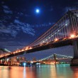 Bridges and Moon - Stock Photo