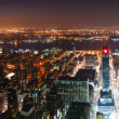 Royalty-Free Stock Photo: New York City Manhattan skyline aerial view panorama at sunset