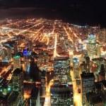 Chicago Night view panorama — Stock Photo