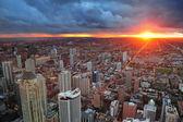 Chicago sunset — Stock Photo
