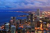 芝加哥天际线全景鸟瞰图 — 图库照片