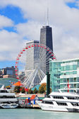 Chicago city downtown — Stockfoto