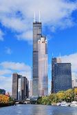 Chicago downtown skyline — Stock Photo