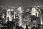 New York City Manhattan Times Square skyline aerial view panoram — Stock Photo